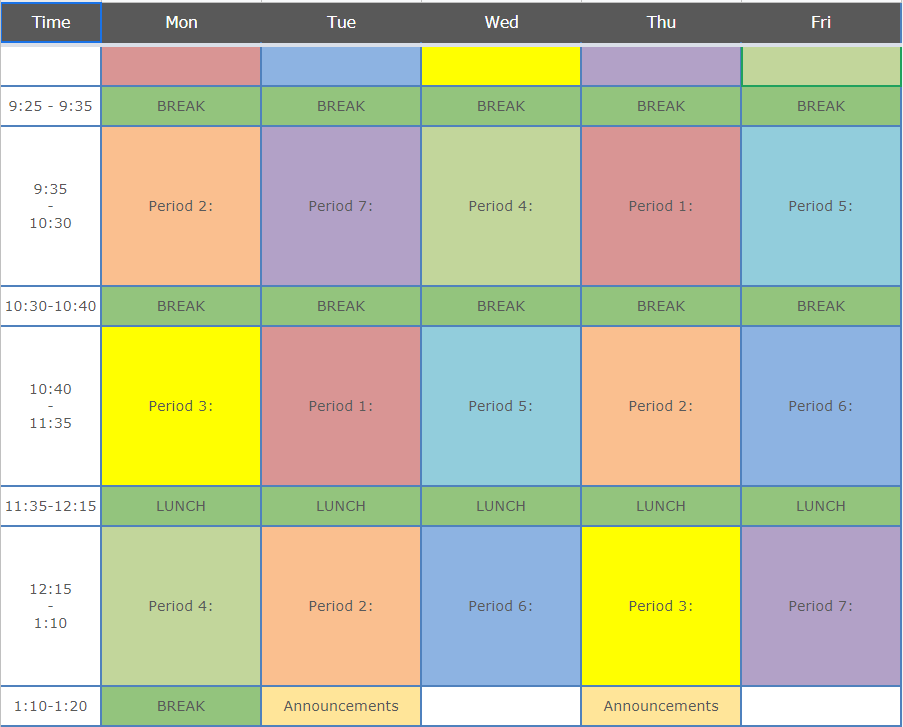 Redwood Schedule Blank Template version 2