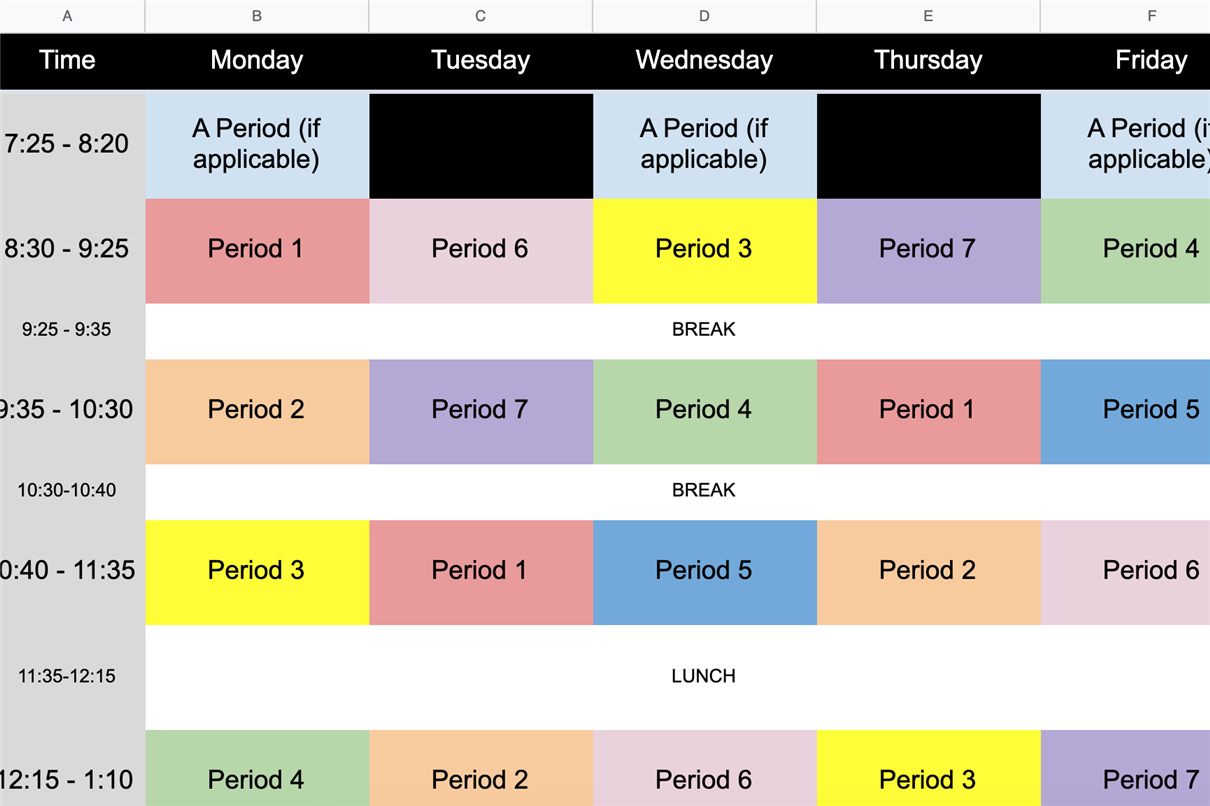 Redwood Schedule Blank Template version 1